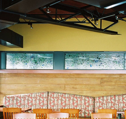 Interior painting work at Blue Water Grill